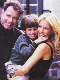 John Travolta, o filho Jett e a esposa, Kelly Preston